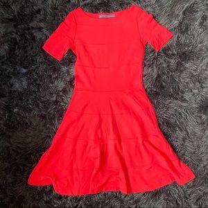 ZARA Red Skater Dress